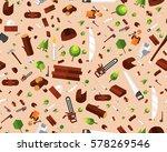 vector flat seamless texture... | Shutterstock .eps vector #578269546