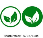 natural branch icon with green... | Shutterstock .eps vector #578271385