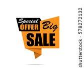 big sale banner. yellow...   Shutterstock .eps vector #578272132