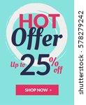 social media banner for online... | Shutterstock .eps vector #578279242