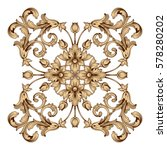 vintage baroque ornament retro... | Shutterstock .eps vector #578280202