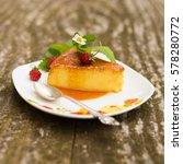 french creme caramel dessert... | Shutterstock . vector #578280772