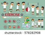 exercise or sport for health... | Shutterstock .eps vector #578282908