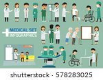 doctor and medical set with...   Shutterstock .eps vector #578283025