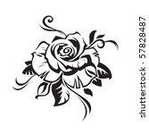 Stock vector black rose on white background 57828487