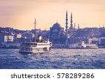 cityscape of istanbul at sunset ... | Shutterstock . vector #578289286