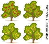 tree with fruit  fruit tree... | Shutterstock .eps vector #578292352