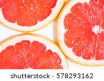 Texture Of A Ripe Grapefruit...