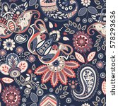 vector seamless flowers pattern.... | Shutterstock .eps vector #578293636