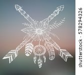 beautiful boho elements .... | Shutterstock .eps vector #578294326