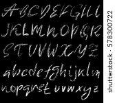 handwritten vector chalked...   Shutterstock .eps vector #578300722