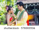 thai women and men with...   Shutterstock . vector #578303536
