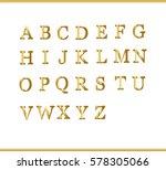 gold alphabet | Shutterstock .eps vector #578305066