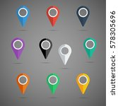 colorful map pointer icon set....   Shutterstock .eps vector #578305696