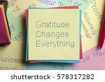 Top View Of Gratitude Changes...