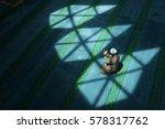 muslm man pray in mosque | Shutterstock . vector #578317762
