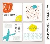 template  banners. vector brush ... | Shutterstock .eps vector #578323195