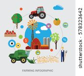 farming infographics and vector ... | Shutterstock .eps vector #578323642