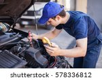 car electrician troubleshooting ... | Shutterstock . vector #578336812