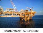 gangway or walk way in oil and...   Shutterstock . vector #578340382
