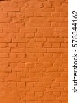 Orange Colored Brick Wall...