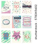 collection of color cards  sale ... | Shutterstock .eps vector #578345602