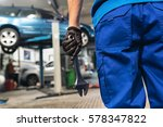 professional mechanic repairing ... | Shutterstock . vector #578347822