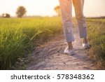 picture of feet of woman ... | Shutterstock . vector #578348362
