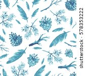 seamless pattern with hand... | Shutterstock .eps vector #578353222