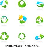 collection  of glossy 3d... | Shutterstock .eps vector #57835573