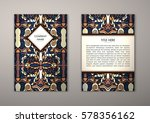 flyer template with abstract... | Shutterstock .eps vector #578356162