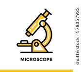 linear microscope icon for... | Shutterstock .eps vector #578357932