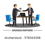 businesss and office concept  ... | Shutterstock .eps vector #578365348