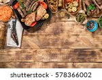 different foods cooked on the...   Shutterstock . vector #578366002