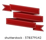 embroidered red ribbon isolated ...   Shutterstock . vector #578379142