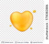 heart shaped honey drop on... | Shutterstock .eps vector #578382886