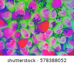 the strawberry in color effect | Shutterstock . vector #578388052