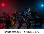 musician band hand holding the... | Shutterstock . vector #578388172