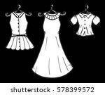 fashion boutique  stylized... | Shutterstock .eps vector #578399572