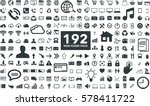 black internet web icons... | Shutterstock .eps vector #578411722
