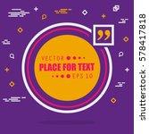 abstract concept vector empty... | Shutterstock .eps vector #578417818