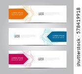 vector design banner background. | Shutterstock .eps vector #578419918