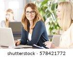 shot of two professional women...   Shutterstock . vector #578421772