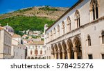 buildings in the street next to ...   Shutterstock . vector #578425276