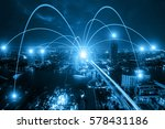 business networking connection... | Shutterstock . vector #578431186