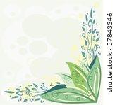 floral background   Shutterstock .eps vector #57843346