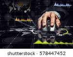 businessman using mouse . mixed ... | Shutterstock . vector #578447452