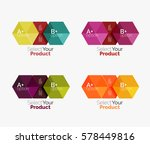 vector business geometric... | Shutterstock .eps vector #578449816