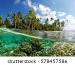 beautiful untouched tropical... | Shutterstock . vector #578457586