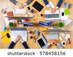 interacting as team for better... | Shutterstock . vector #578458156